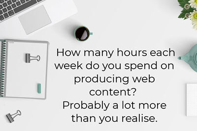 Hours of web content production