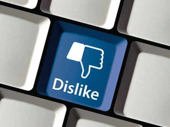 Facebook business dislike key