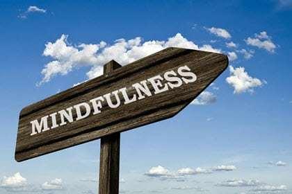 "Road sign saying ""Mindfulness"""