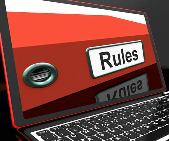 New rules on laptop screen