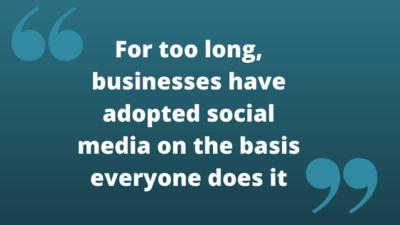 social media quotation
