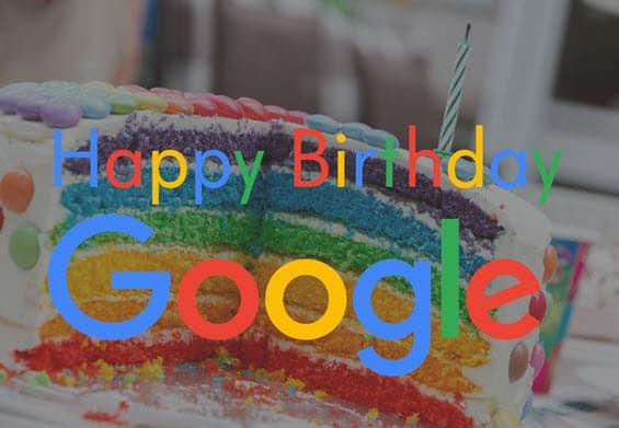 Happy Birthday Google Cake