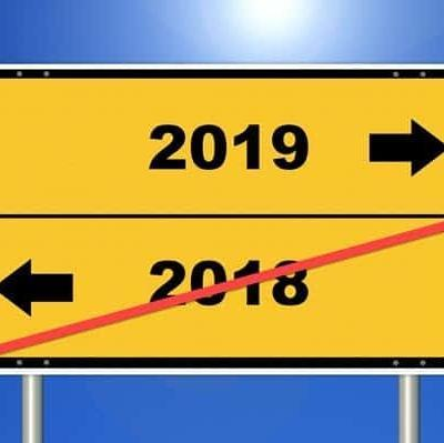 2018 to 2019 roadsign