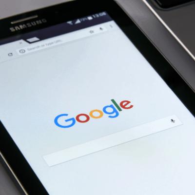 Web search using Google
