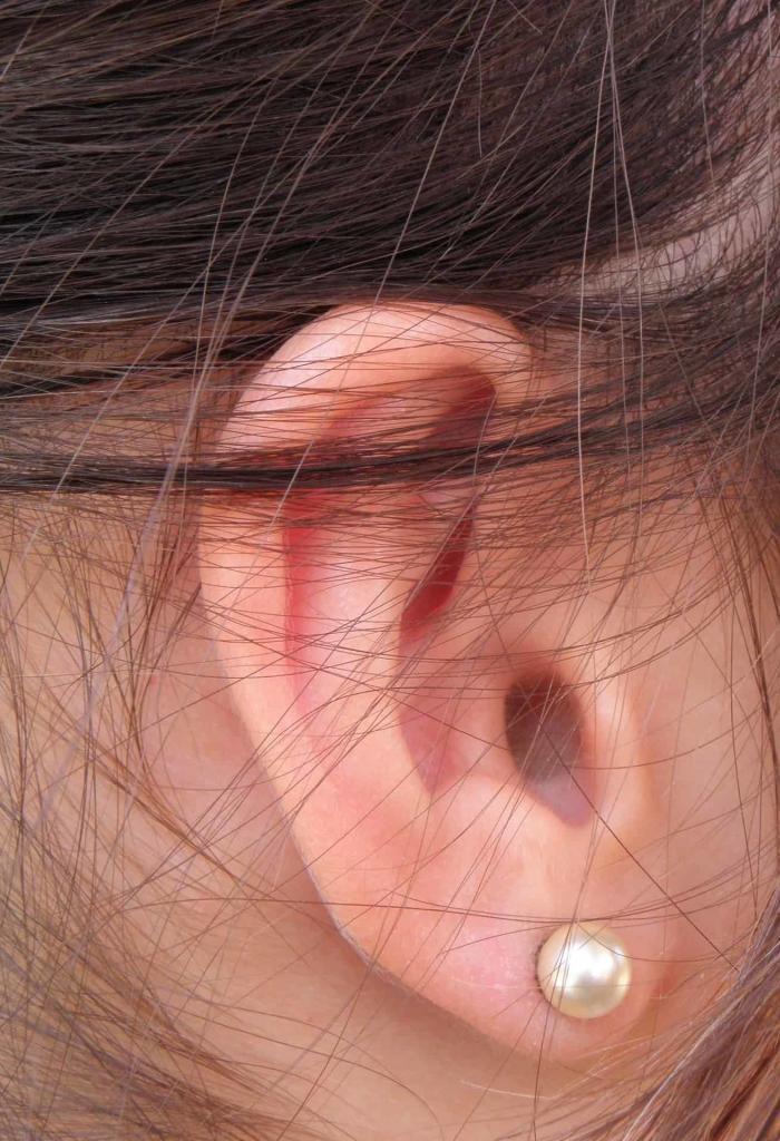 Close up of human ear