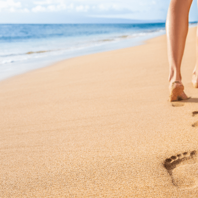 Foosteps in sand
