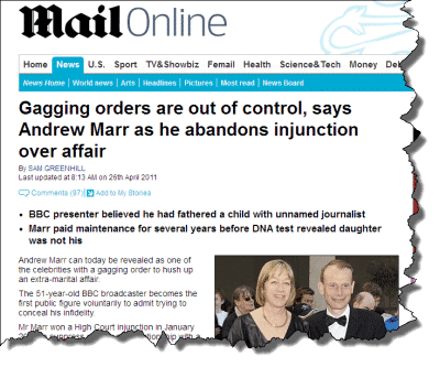 Andrew Marr Reveals Gagging Order