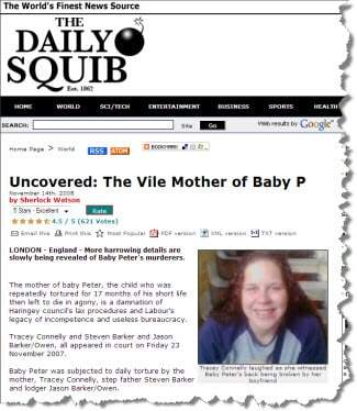Blogs identified Baby P's mother several months ago