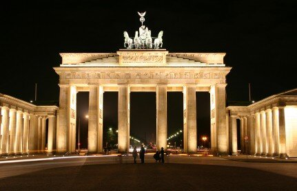 The Brandenburg Gate symbolises the opening up to a free flow of information into East Berlin