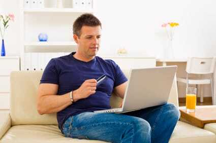 People make the decision to buy something online while at home