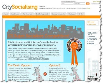 CitySocialising seeks the most sociable people in the UK