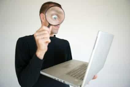 Eye searching web page