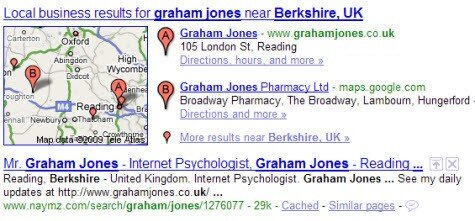 Google Map Graham Jones