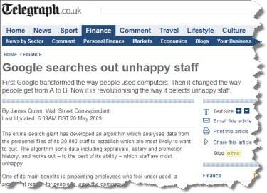 Google look for unhappy staff