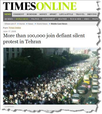 Protestors in Iran defy the Internet clampdown