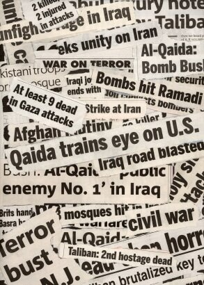 War headlines continue to appear in spite of the Internet